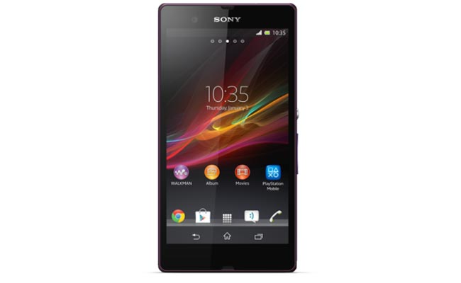 Purple Sony Xperia Z