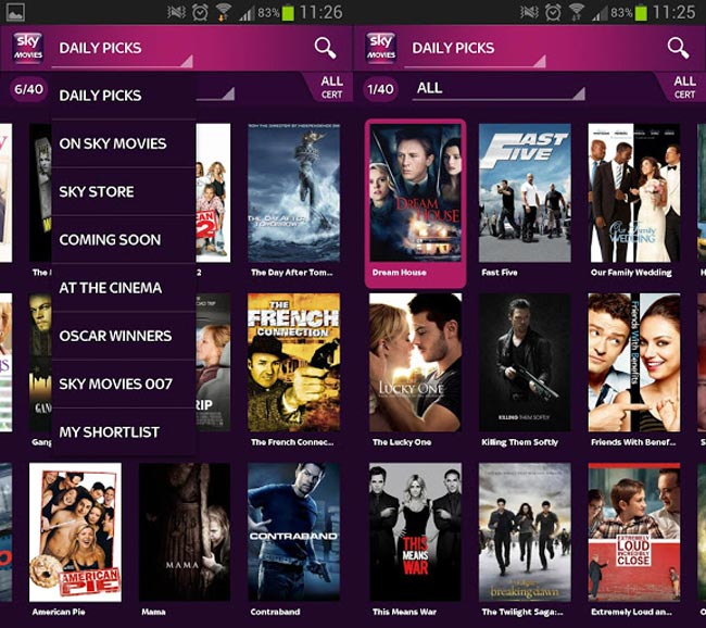 Sky Movies App lands On Android