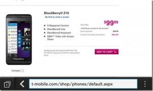 Blackberry Z10 Now Available From T-Mobile