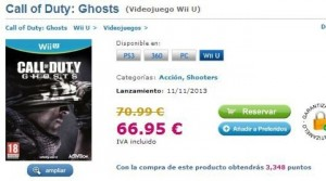 Call Of Duty Ghosts Wii U & PC Outed By Spanish Online Shop