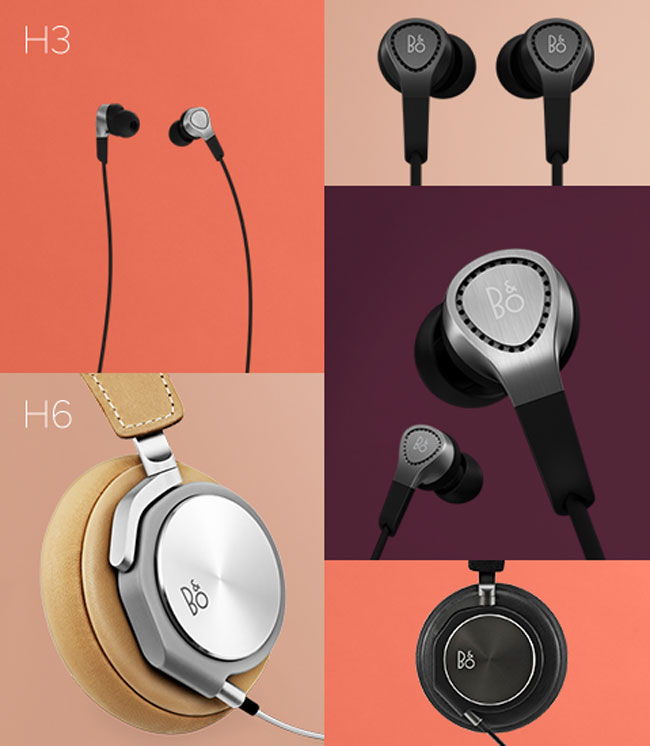 bang olufsen beoplay h3 and h6 headphones launch in europe. Black Bedroom Furniture Sets. Home Design Ideas