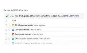 Google Drive Now Allows Offline Editing And Automatic Saving