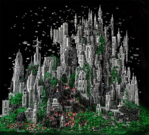 Awesome Odan Lego City Created With 200,000 Lego Bricks Over 600 Hours