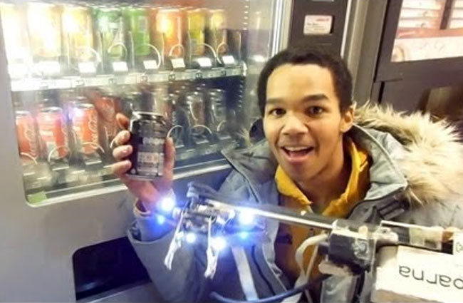 Robot Built To Rob Vending Machines