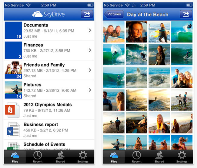 Skydrive iOS