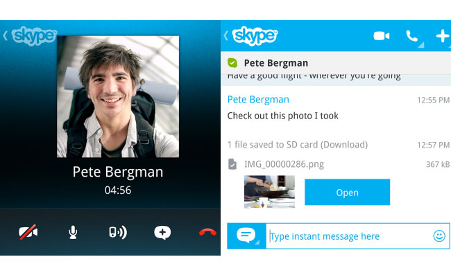 Skype BlackBerry 10 Preview