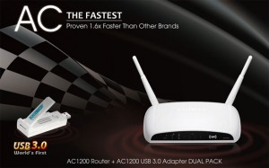 Edimax Dual Pack Features an 802.11ac router and USB 3.0 adapter
