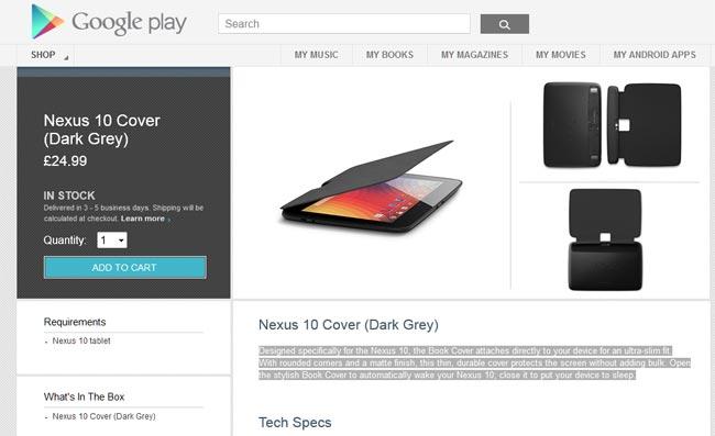Nexus 10 Official Flip Cover