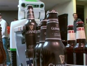 Willow Garage PR2 Robot Serves Beer
