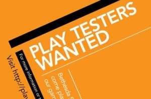 Bethesda Play Test Lab Now Recruiting