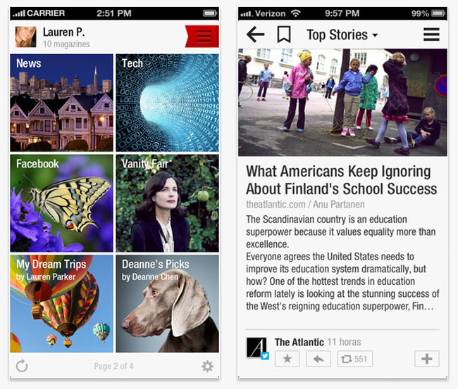 Flipboard iOS App
