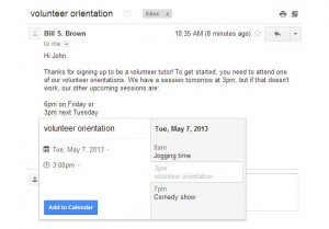 Gmail Update Enables The Ability To Add Google Calendar Events Directly From Gmail