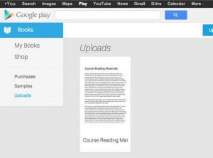 Google Play Books Update Allows You To Upload Your Own Files And eBooks