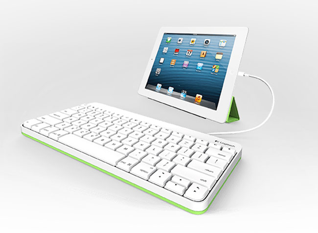 logitech wired ipad keyboard unveiled. Black Bedroom Furniture Sets. Home Design Ideas