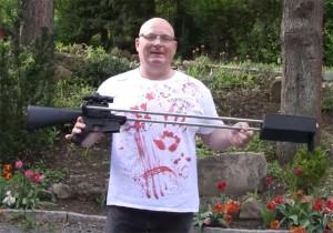 M16-Based Crossbow Created By Slingshot Master Joerg Sprave (video)