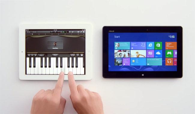 Microsoft Windows 8 Tablet Advert