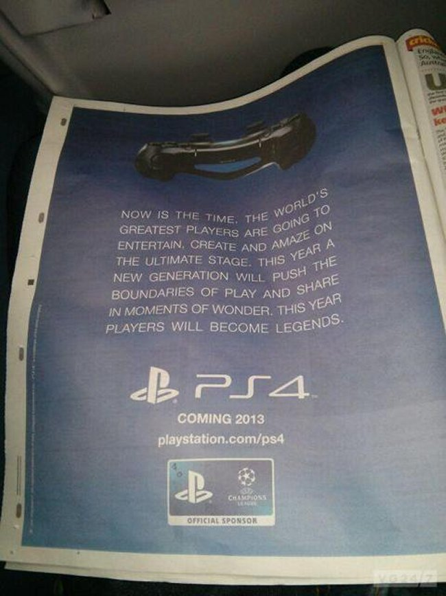 Newspaper Ad Confirms Sony PlayStation 4 For 2013