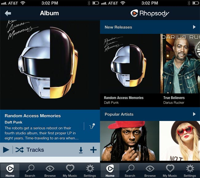Rhapsody iPhone