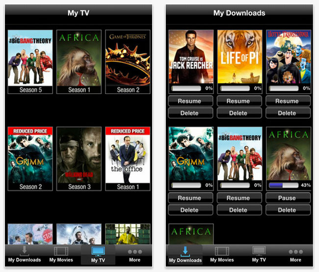 Vudu Player iOS App