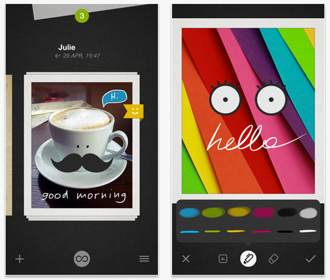 Bamboo Loop, The Wacom Based Messaging Application on Cards