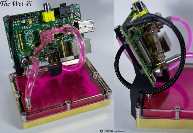 Water Cooled Raspberry Pi