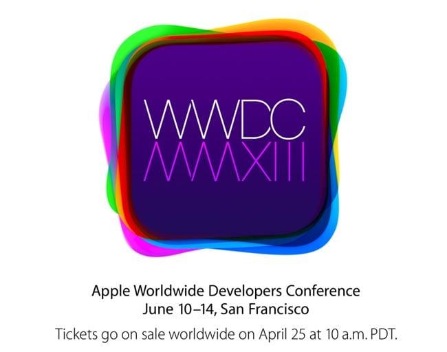 Apple WWDC 2013 Keynote Takes Place Monday 10th June