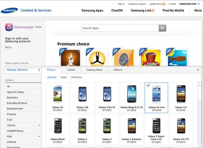 Samsung Galaxy S4 Mini Appears On Samsung's Website