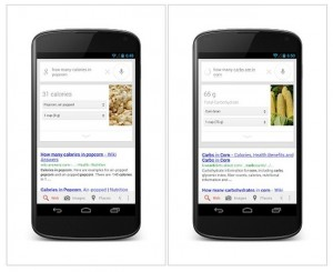 Google Search Now Displays Nutrition Information Of Most Foods