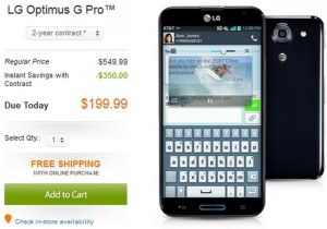 LG Optimus G Pro and Samsung Galaxy S4 32GB available at AT&T now