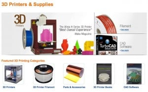 Amazon 3D Printing Store Quietly Launches