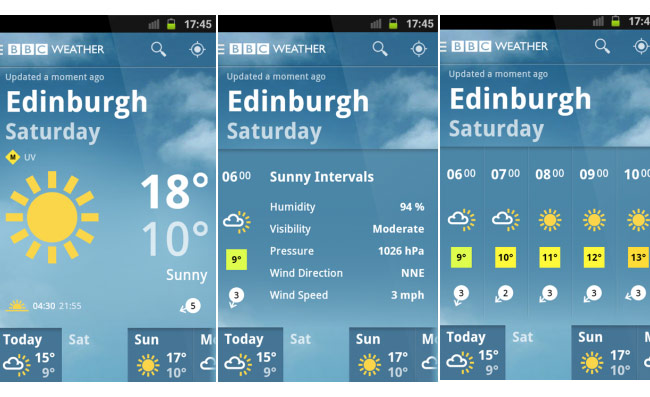 BBC Weather app