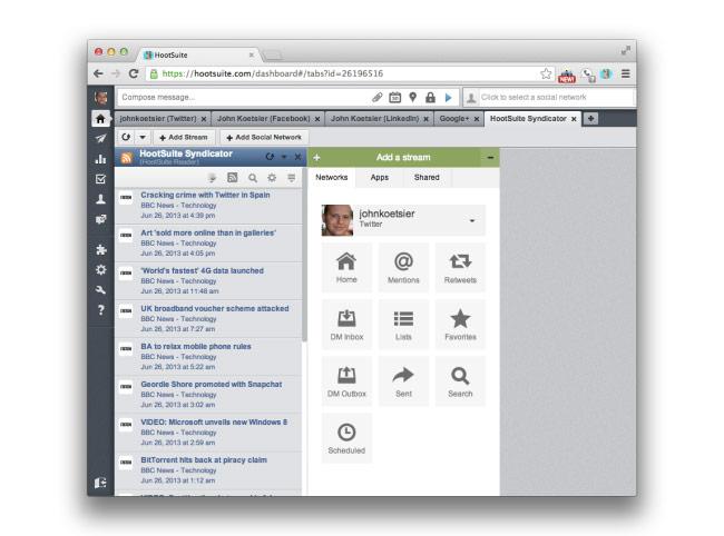 HootSuite Syndicator
