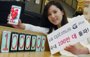 LG Optimus G Pro Hits One Million Handsets Sold In South Korea