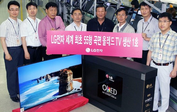 LG Shows Off First 55-inch Curved OLED TV