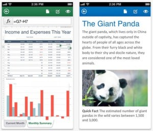 Microsoft Office Mobile Released For iPhone And Office 365 Subscribers (video)