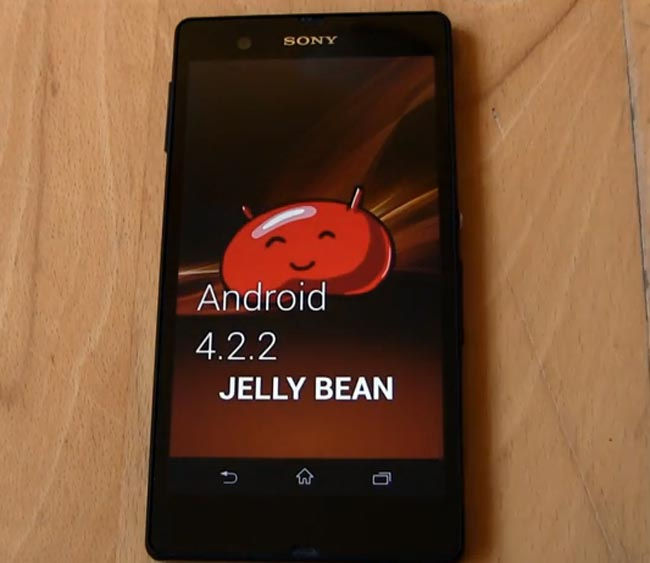 Sony Xperia Z Android 4.2.2. Update