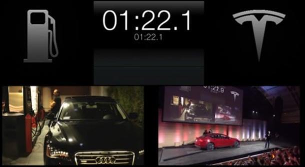 Tesla's 90 Second Battery Swap (video)