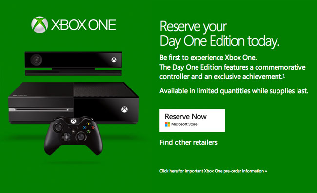 Xbox One Day One Edition Xbox One Day One Limit...
