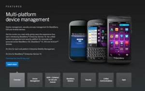 BlackBerry Secure Work Space For iOS And Android Management Announced