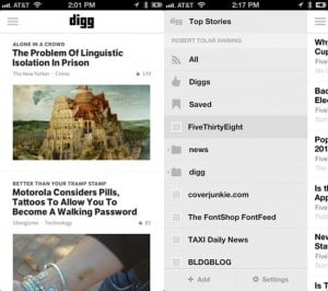 Digg Reader Lands On Their iOS App