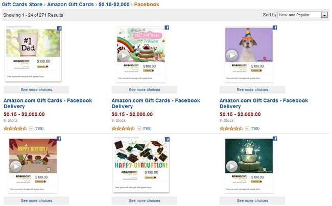 Amazon Unveils Social Gift Card For Facebook Users Geeky Gadgets