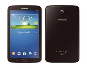 Gold Brown Samsung Galaxy Tab 3 7.0 Leaked