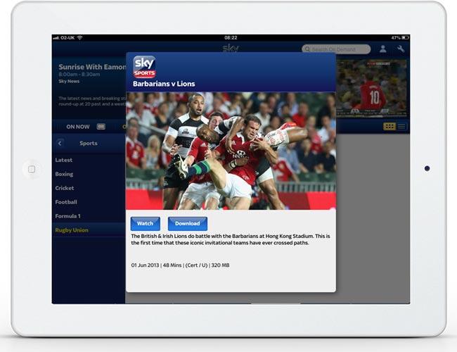 Sky Go For iOS Get Sports On Demand