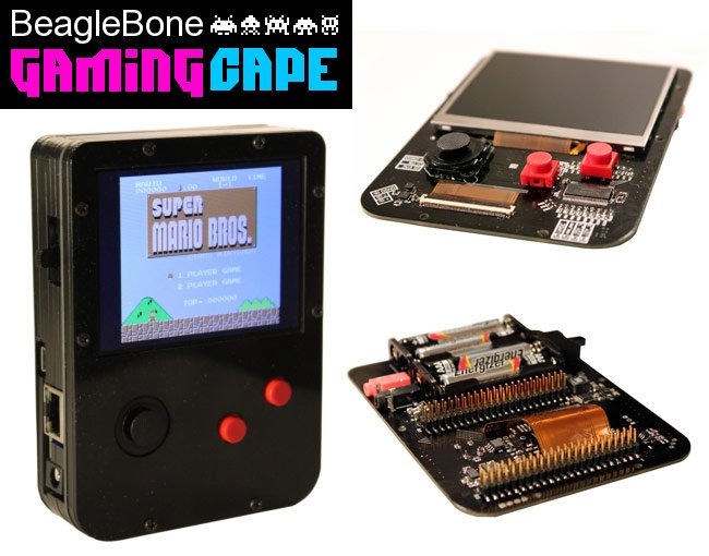 Beaglebone gamingcape transforms black into