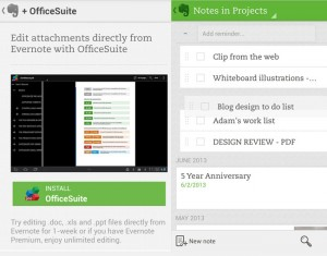 Evernote Android App