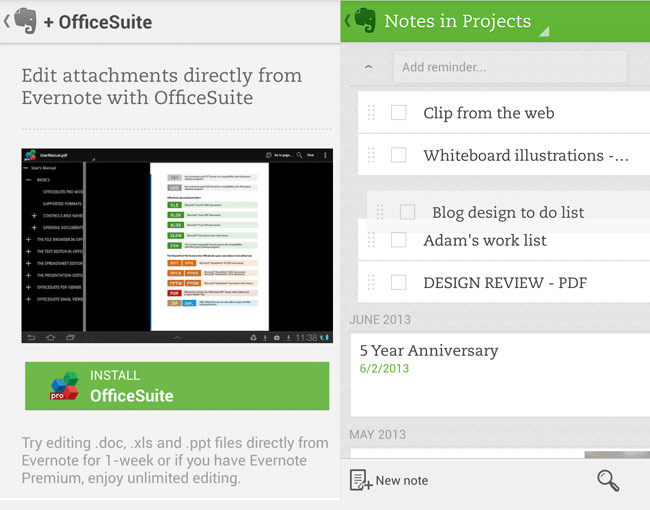 Evernote Android App - Evernote Android App Update Adds A Multitude Of New Features
