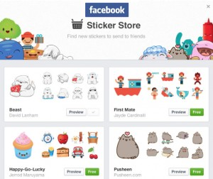 Facebook Stickers Arrive On The Web