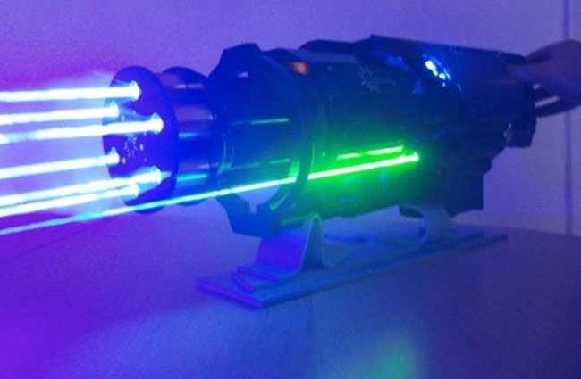 6 Laser Gatling Gun Prototype Unveiled (video)