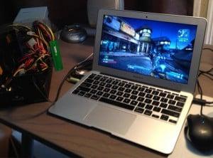 Macbook Air Gaming Upgrade Created Using External GPU (video)