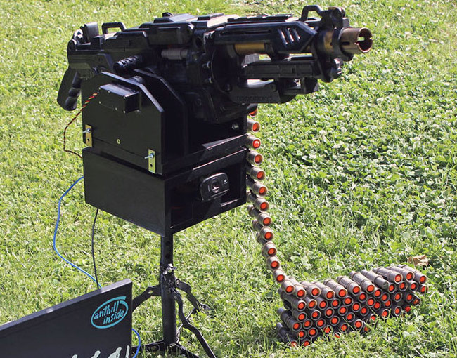 Awesome Nerf Sentry Gun Will Keep Intruders Away (video)